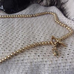 Ralph Lauren Gold tone ball chain necklace